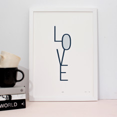 Love limited edition screenprint on paper