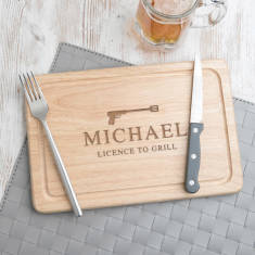 Licence To Grill Personalised Chopping Board