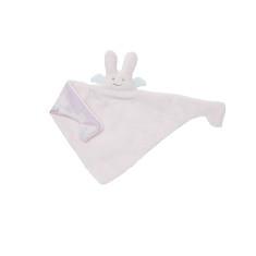 Pink bunny angel comforter