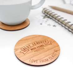 Personalised Best Teacher Coaster