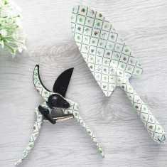 Floral Trowel, Pruner And Gloves Set