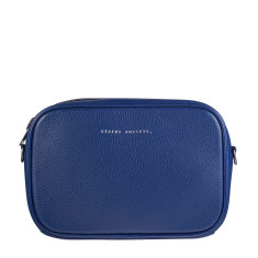 Plunder leather bag in blue