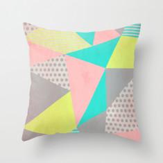 Pastel geometric cushion