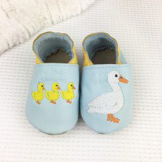 Personalised Mama Duck and Chicks Baby Shoes