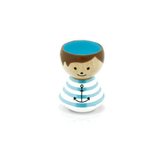 Hand-painted Sailor Danish Egg Cup