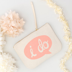 I Do Canvas Pouch
