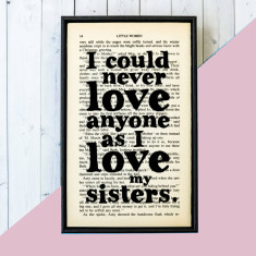 Little Women sisters quote - book page art