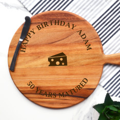 Personalised Matured Cheese Birthday Cheeseboard