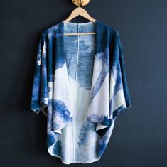 Midnight Ink Wool Kimono