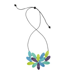 Wonderland Hibiscus Necklace in Blue Mix