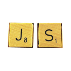 Vintage style scrabble wood tile cufflinks (choose your initials)
