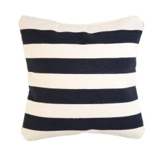 Black and white stone stripe cushion cover