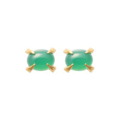 Green onyx Sira stud earrings