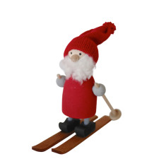Santa Jonas on skis decoration