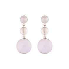 Felicity triple drop earrings in rose gold plate