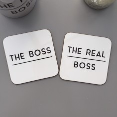 The Boss And Real Boss Coaster Set
