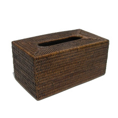 Tissue Box Rattan Antique Brown V811b