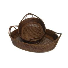 Set of 2 Boat Trays - V821 Brown