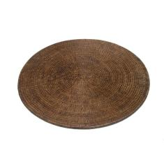 Rattan round placemats in dark brown (set of 6)