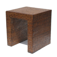 Lamp side Table in Rattan
