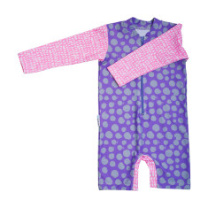 Baby sunsuit for girls in Summer Spots Hollywood