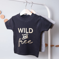 Personalised Wild And Free Children's T Shirt