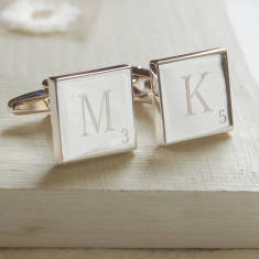 Word Letter Tile Cufflinks