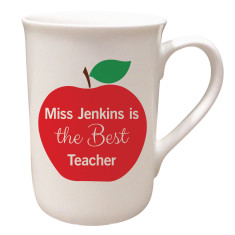Personalised teachers apple mug