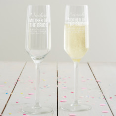 Personalised Mother Of The Bride Champagne Flute