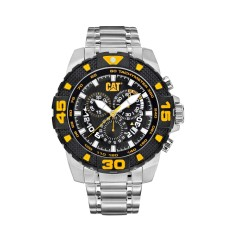 CAT DP Chrono series watch in steel, black & yellow plus free gift