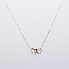 Linked forever heart necklace