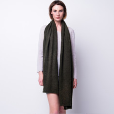 Cashmere scarf shawl in one - moss green