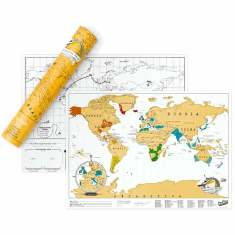 Scratch off world map (travel edition)