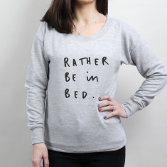Rather Be In Bed Scoop Neck Women's Sweater