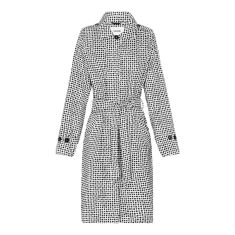 Women's packable raincoat in dalmatian