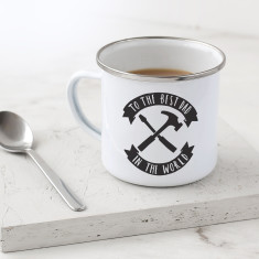 DIY Dad Enamel Mug
