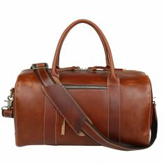 Small leather holdall/duffle bag in brown