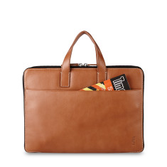 Slim Leather Brief For MacBook