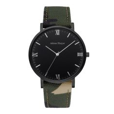 Hemingway - All Black Camo Strap Watch