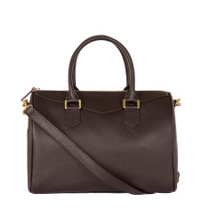 Dauphine crossbody bag in brown leather