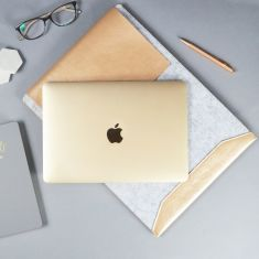 Personalised Grey And Rose Gold Laptop Sleeve