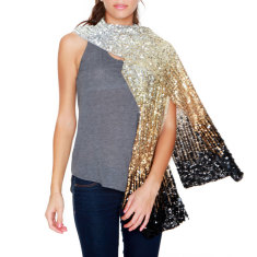 Shaded Sequin Shawl