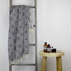 Amalfi Turkish Towel in Charcoal