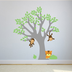 Monkeys In Tree Wall Sticker