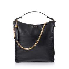 Black Beauty Leather Handbag In Black