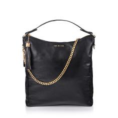 Black Beauty Leather Handbag In Black