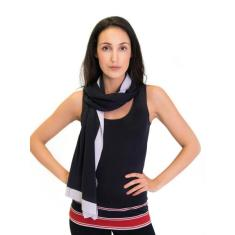 Silk Cashmere Scarf / Wrap Two Toned Slate