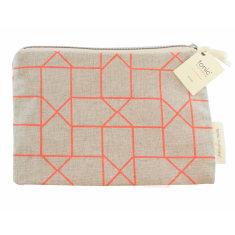 Geo orange purse