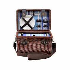Sorrento Luxury Wicker Picnic Basket for 2 people