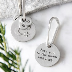Moon and Back Key ring